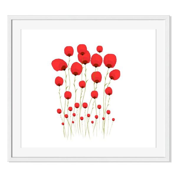 Ngocdai86 'Pretty Red Flowers 'Framed Paper 19414233