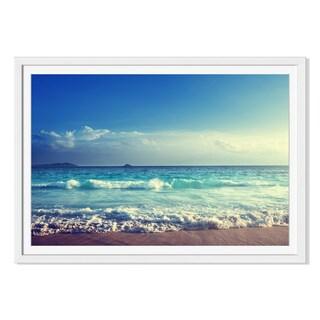 Iakov Kalinin 'Seychelles Beach In Sunset Time 'Framed Paper