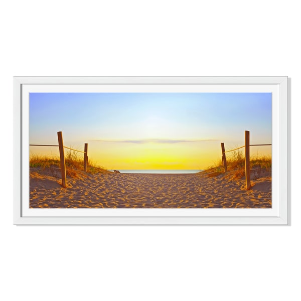 Fotomak 'Path On The Sand 'Framed Paper