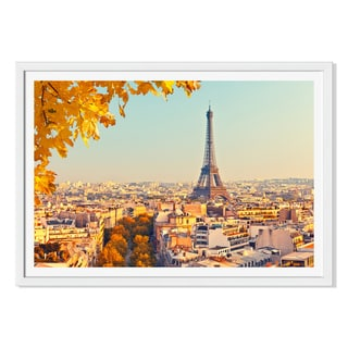 Sborisov 'View On Eiffel Tower At Sunset 'Framed Paper
