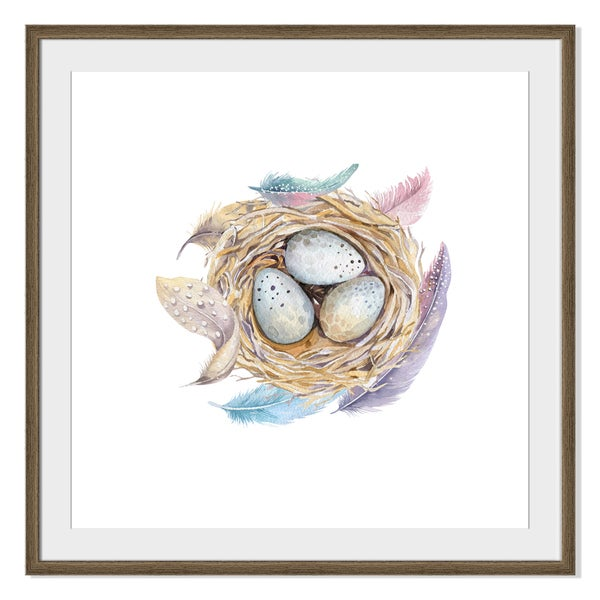 Kris Art 'Bird Nest With Eggs 'Framed Paper