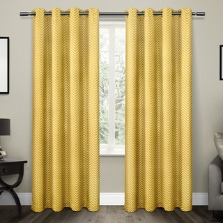ATI Home ATI Chevron Blackout Thermal Grommet Top Window Curtain 84 - 96-inch Length Panel Pair
