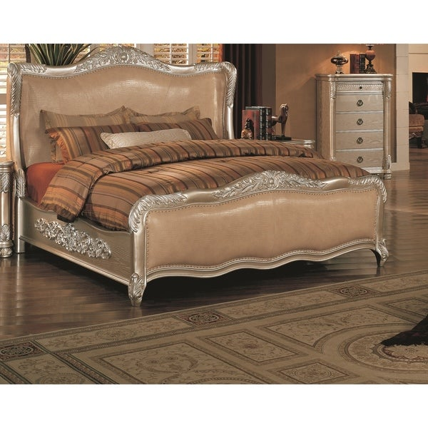 Lyke Home Bellisario Metallic Wood and Veneer Bed