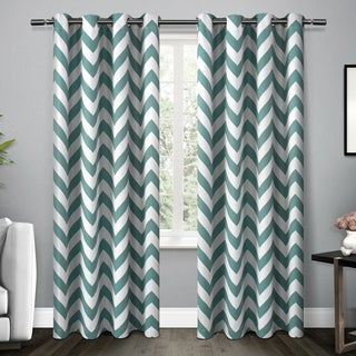ATI Home ATI Mars Multicolor Polyester 84 to 96-inch Woven Blackout Thermal Grommet Top Window Curtain Panel