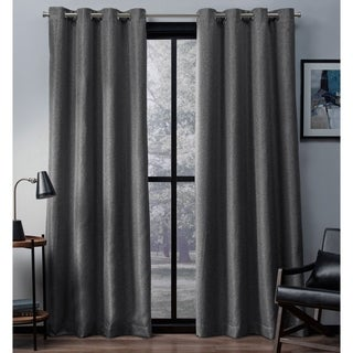ATI Home ATI Eglinton Polyester Woven Blackout Window Curtain Panel Pair, 84-inch to 108-inch Lengths
