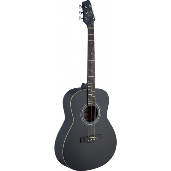 Stagg SA30A-BK LH Auditorium Black Left-handed Acoustic Guitar