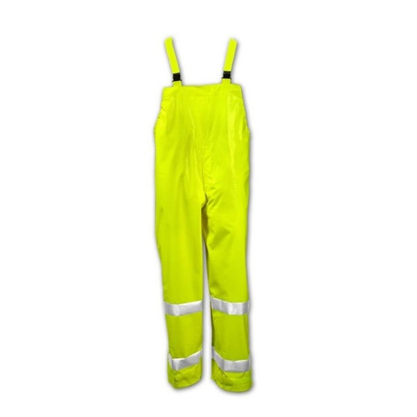 ELECTRA O42122 Fluorescent Yellow/Green PVC High Visibility Overall with 2-inch Reflective Tape