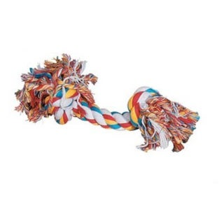 Zanies Rope Bone Mulitcolor 16-inch 2-knot Big Dog Toy