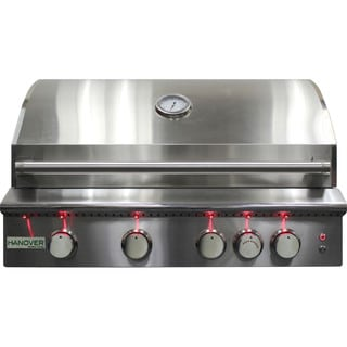 Hanover Grills Silver Stainless Steel 40-inch 5-burner Built-in Liquid Propane Grill with Rear Infrared Burner