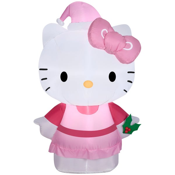 Gemmy Airblown Inflatables Multicolor Plastic/Metal/Synthetic Fiber Hello Kitty 19415085