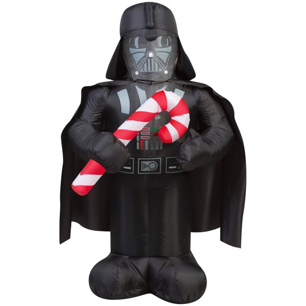 Gemmy Airblown Inflatables 'Star Wars' Darth Vader with Candy Cane