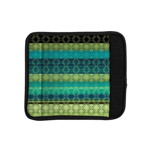 KESS InHouse Nina May 'Denin Diamond Gradient Green' Turquoise Emerald Luggage Handle Wrap