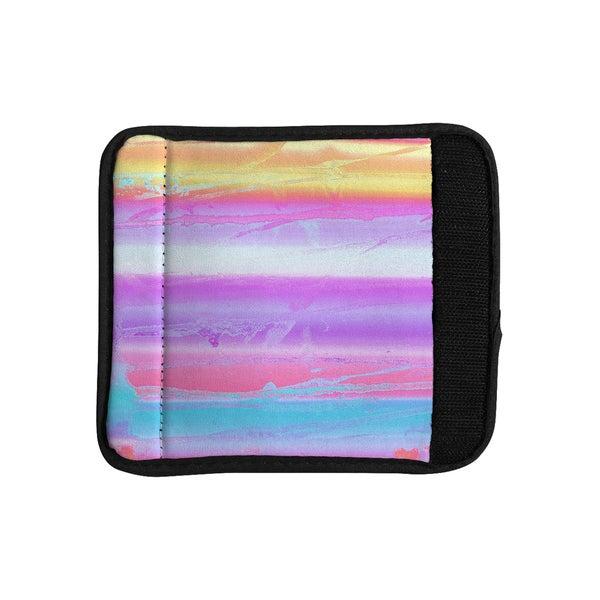 KESS InHouse Nina May 'Drip Dye Warm' Purple Orange Luggage Handle Wrap