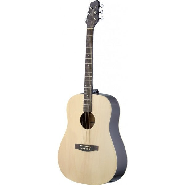 Stagg SA30D-N LH Left Handed Natural Dreadnought Acoustic Guitar