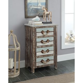Antiqued Weathered Islander Multicolor 4-drawer Chest