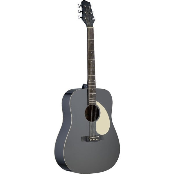 Stagg SA30D-BK Black Dreadnought Acoustic Guitar