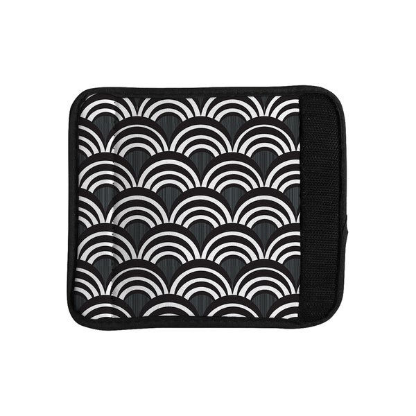 KESS InHouse Nicole Ketchum 'Art Deco Black' Luggage Handle Wrap