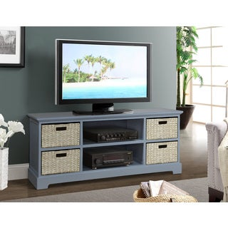 Gallerie Decor Newport Dual-colored Wood TV Stand