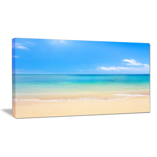 Blue Waters Below Blue Sky - Seashore Photo Canvas Print