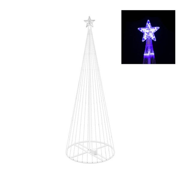 Vickerman Purple Plastic 4-foot Christmas Show Tree with 152 Purple LED Lights