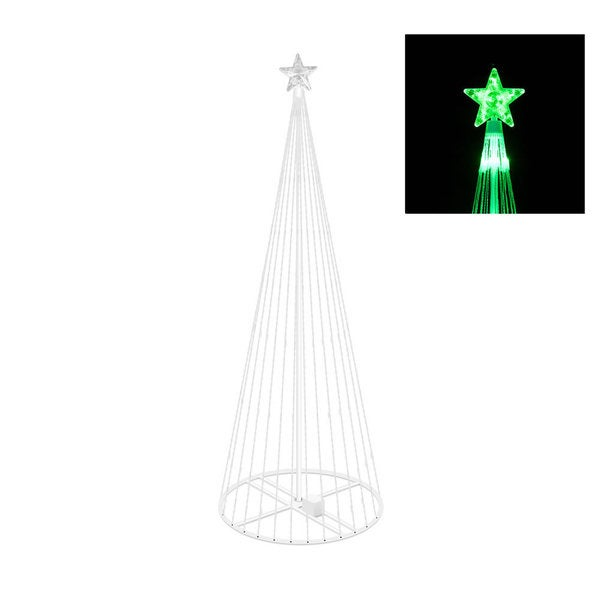 Vickerman Green Plastic 4-foot Christmas Show Tree with 152 Green LED Lights