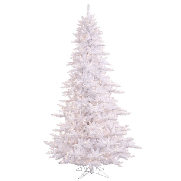 Vickerman White PVC 3-foot Fir Slim Artificial Christmas Tree with 100 Warm White LED Lights