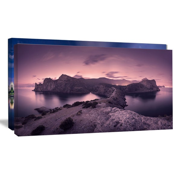 Purple Night Sky at Mountains - Landscape Photography Wall Art