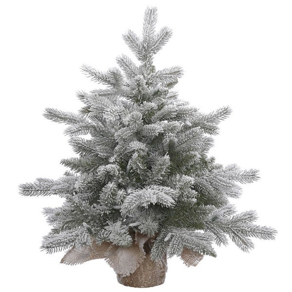 Vickerman Frosted Sable Pine 18-inch Unlit Artificial Christmas Tree