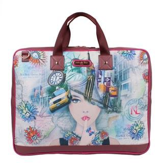 Nicole Lee Aleena Multicolor Nylon/Synthetic Leather 38-inch Graphic Garment Bag