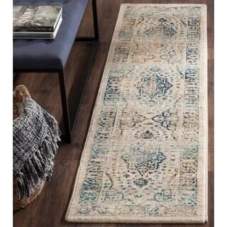 Safavieh Evoke Beige/ Turquoise Rug (2' x 8')