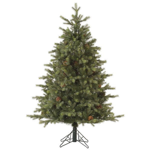 Vickerman Green Plastic 6-foot Rocky Mountain Fir EZ Plug Unlit Artificial Christmas Tree