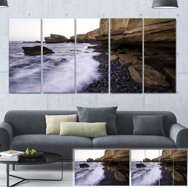 Rolling Stones at Beach - Seashore Photo Canvas Art Print