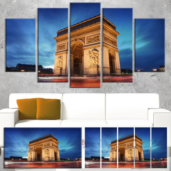 Arch of Triumph in Paris - Landscape Photo Canvas Art Print