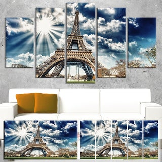 Magnificent Eiffel Tower View - Skyscape Large wall art canvas
