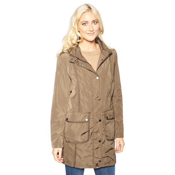 Women's Navy Pikes Peak Hooded Anorak Jacket