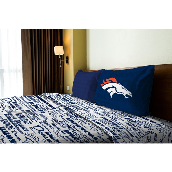 NFL 820 Broncos Anthem Twin Sheet Set