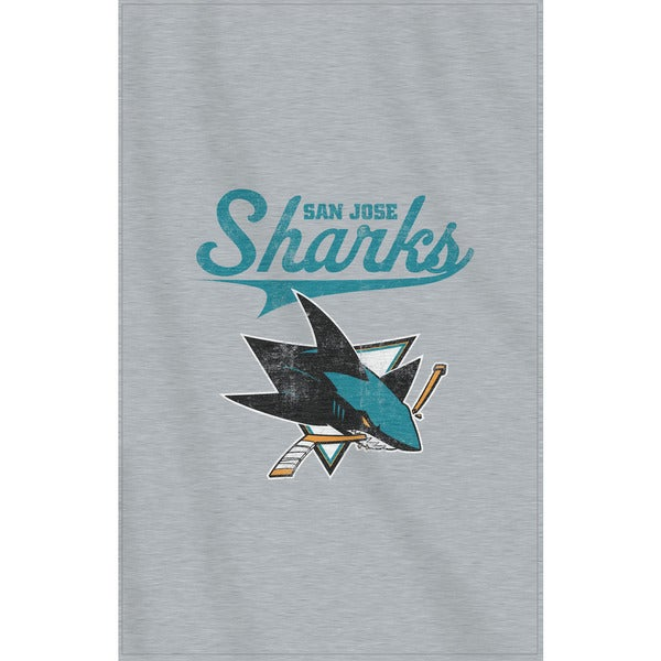 NHL 100 Sharks Sweatshirt Throw