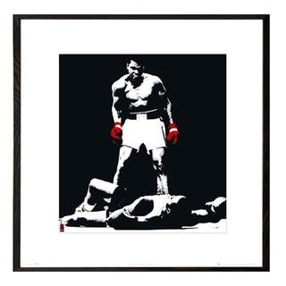 Muhammad Ali 16-inch x 16-inch Print With Walnut Architect Frame