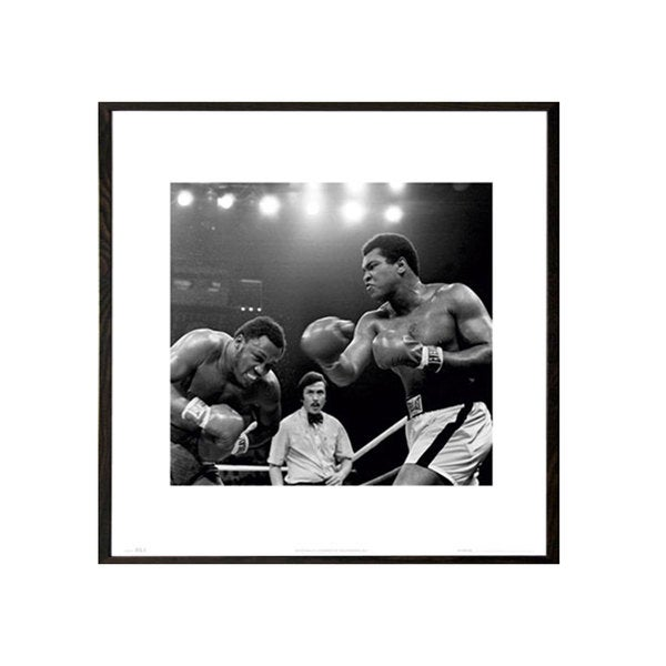 Muhammad Ali Thrilla 16-inch x 16-inch Print With Walnut Architect Frame