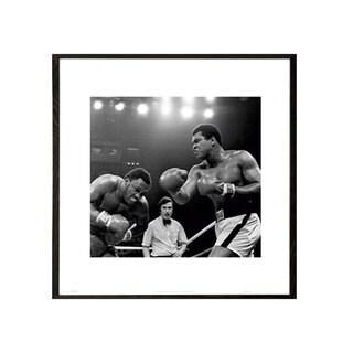Muhammad Ali Thrilla 16-inch x 16-inch Print With Walnut Architect Frame