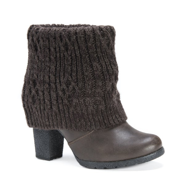 MUK LUKS Women's Chris Brown Faux-leather High-heeled Boots