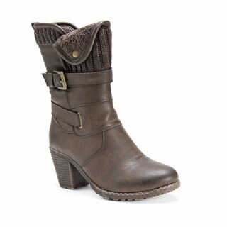 Muk Luks Women's Hedy Brown Polyurethane Faux-leather Boots