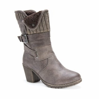 Muk Luks Women's Hedy Tan Faux Fur Boots