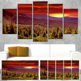 Colorful Sunrise Over Mountains - Landscape Wall Art