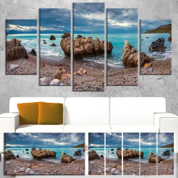 Blue Volcanic Beach - Seashore Photography Canvas Print