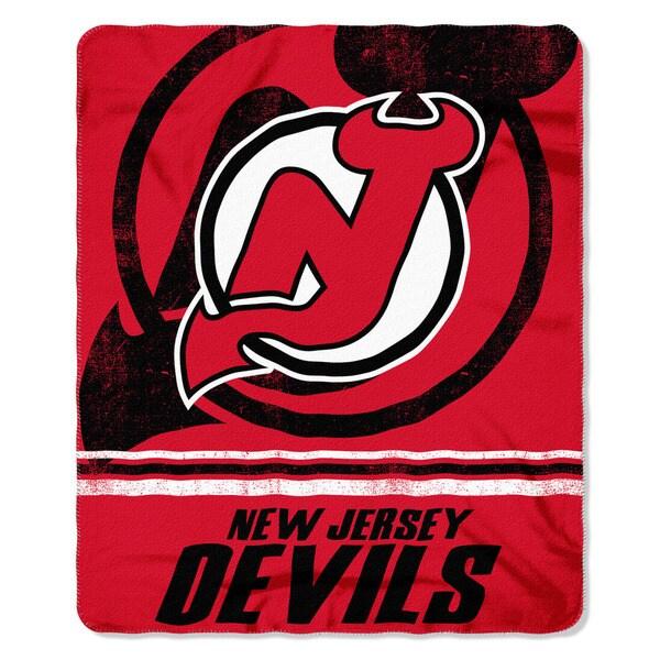 NHL 031 Devils Fade Away Fleece Throw