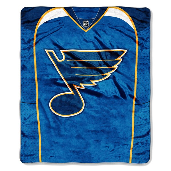 NHL 701 Blues Jersey Raschel Throw
