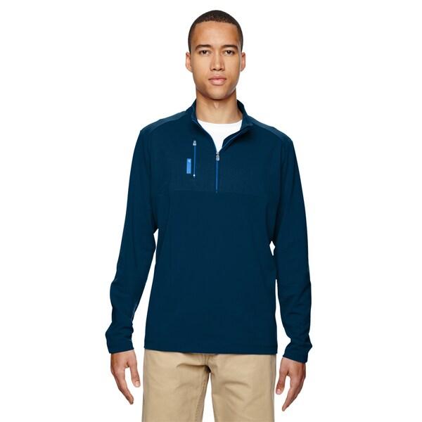 Adidas Puremotion Men's Blue Polyester Quarter-zip Sweater
