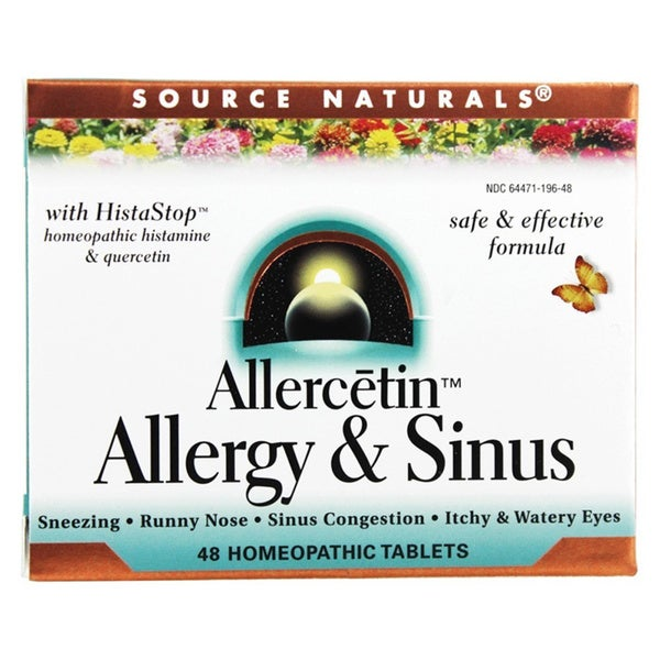 Source Naturals Allercetin for Allergy & Sinus Relief (48 Homeopathic Tablets)