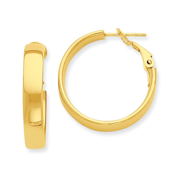 Versil 14k Yellow Gold Thick Hoop Earrings